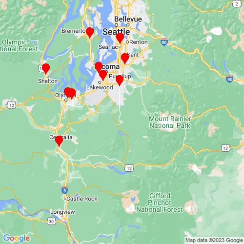 Map of Eatonville, WA