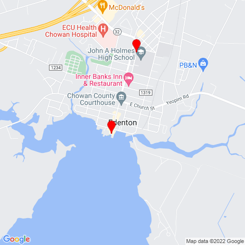 Map of Edenton, NC