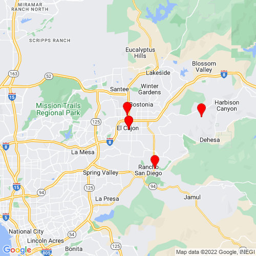Map of El Cajon, CA
