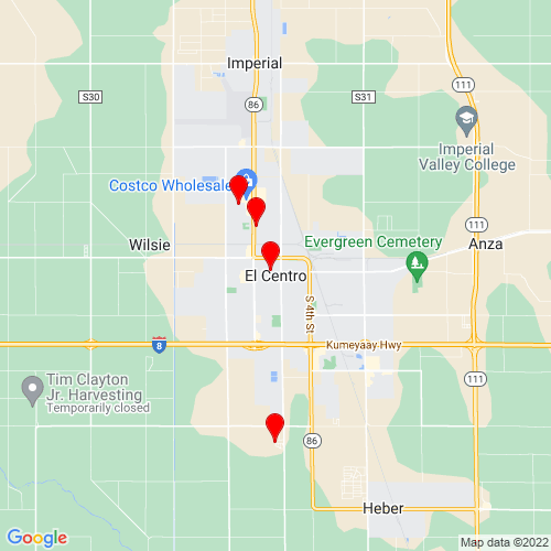 Map of El Centro, CA