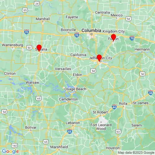 Map of Eldon, MO