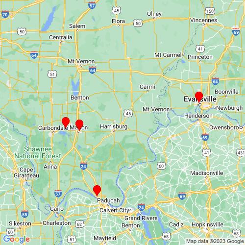 Map of Eldorado, IL