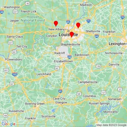 Map of Elizabethtown, KY