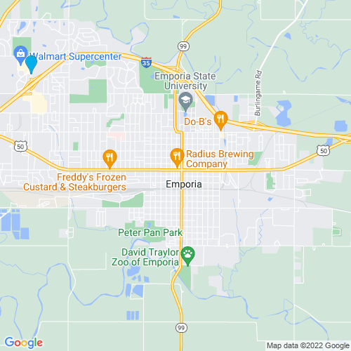 Map of Emporia, KS