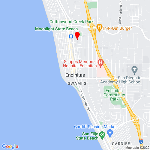 Map of Encinitas, CA