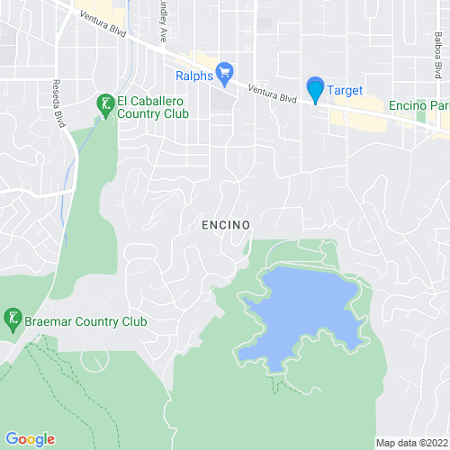 Map of Encino, CA