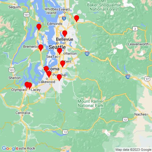 Map of Enumclaw, WA