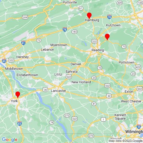Map of Ephrata, PA