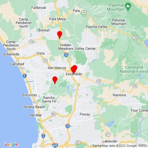 Map of Escondido, CA