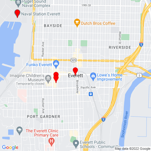 Map of Everett, WA