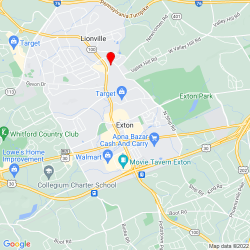 Map of Exton, PA