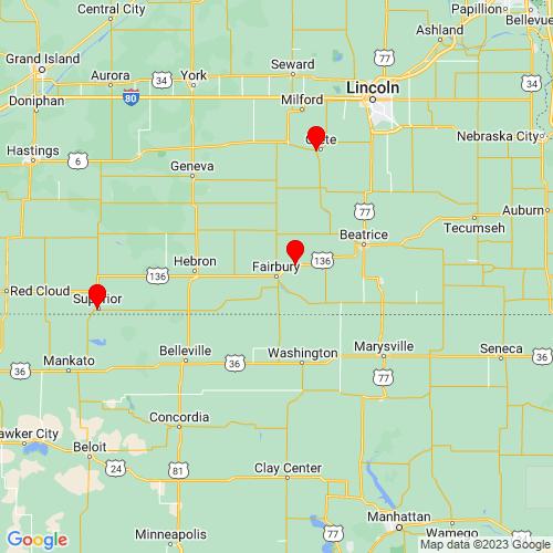 Map of Fairbury, NE