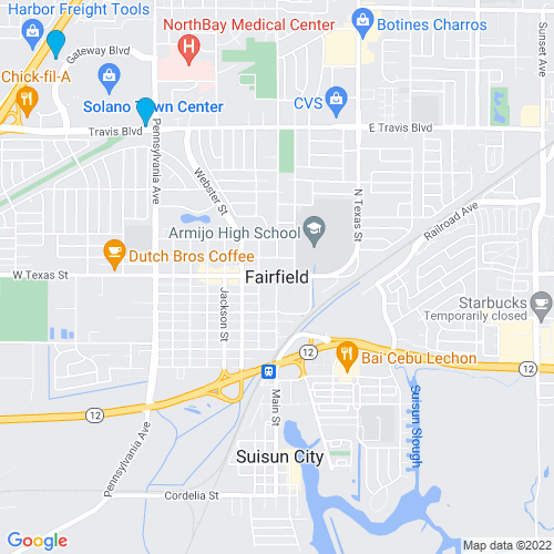 Map of Fairfield, CA