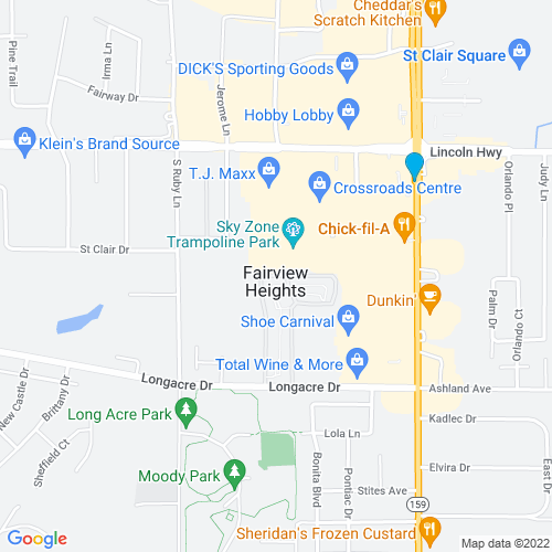 Map of Fairview Heights, IL