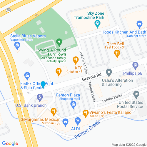 Map of Fenton, MO