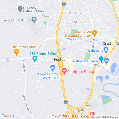 Map of Festus, MO