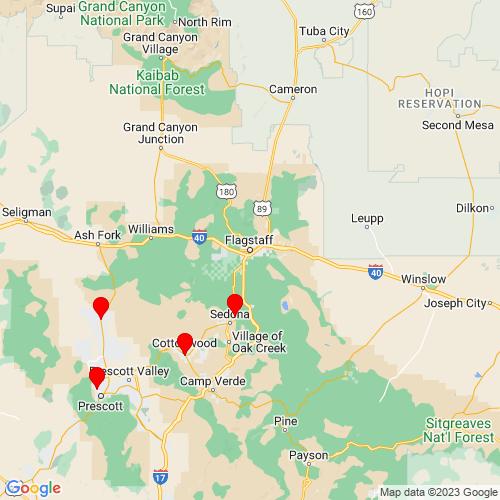 Map of Flagstaff, AZ