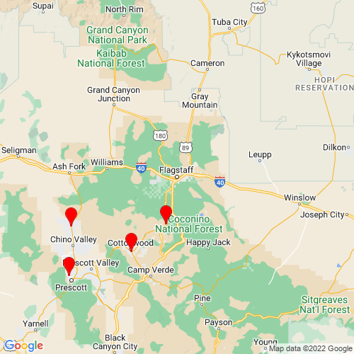 Map of Flagstaff, AZ
