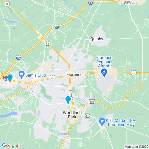 Map of Florence, SC
