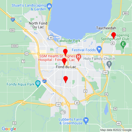 Map of Fond Du Lac, WI