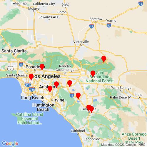 Map of Fontana, CA