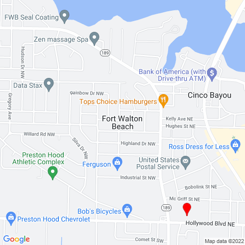 Map of Fort Walton Beach, FL