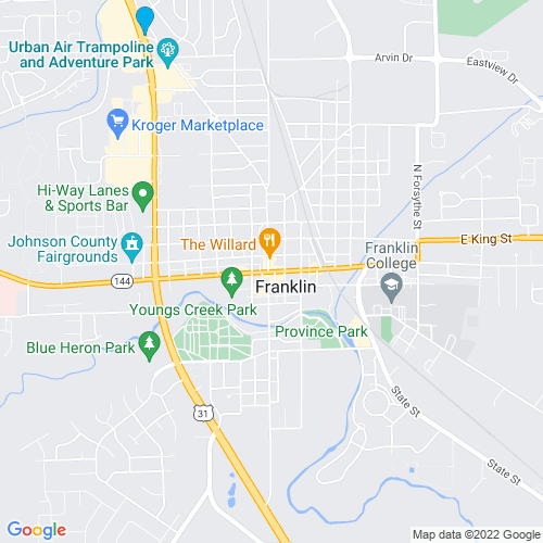Map of Franklin, IN