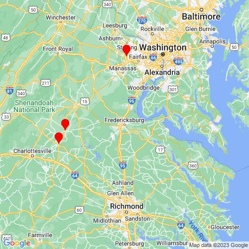 Map of Fredericksburg, VA