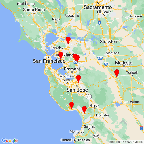 Map of Fremont, CA