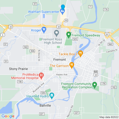 Map of Fremont, OH