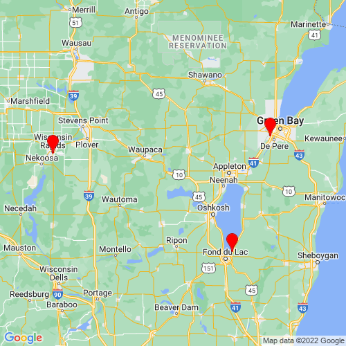Map of Fremont, WI