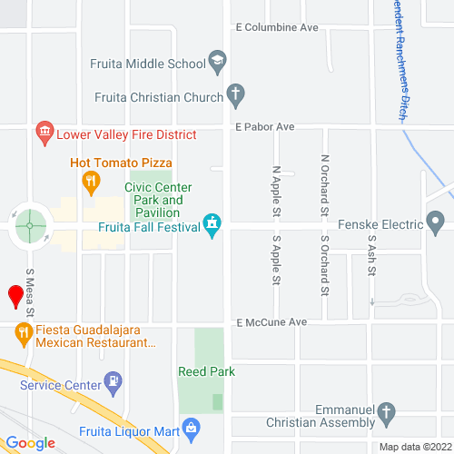 Map of Fruita, CO
