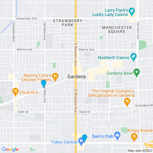 Map of Gardena, CA