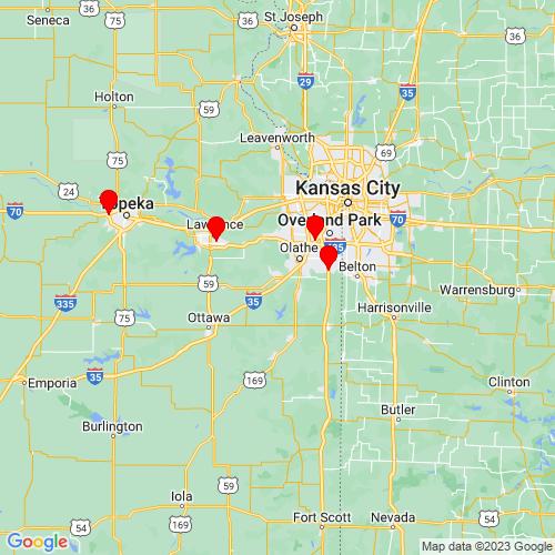 Map of Gardner, KS