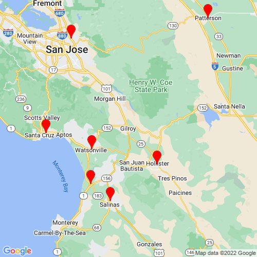 Map of Gilroy, CA
