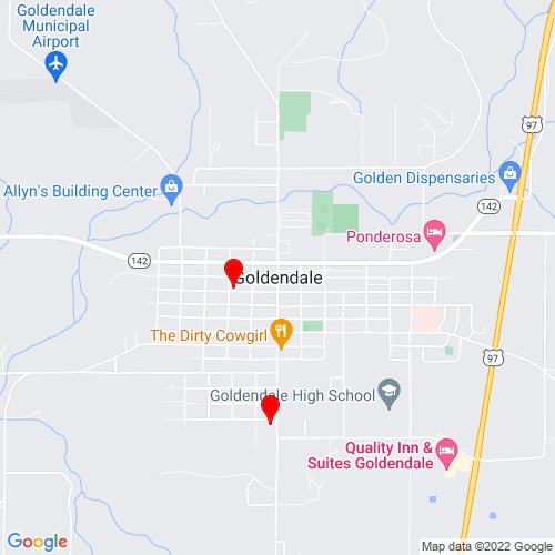 Map of Goldendale, WA