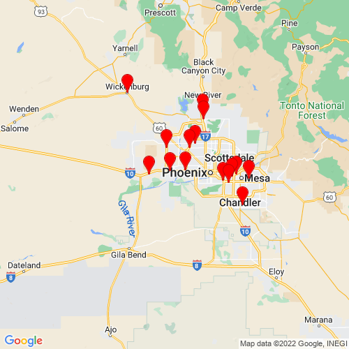 Map of Goodyear, AZ