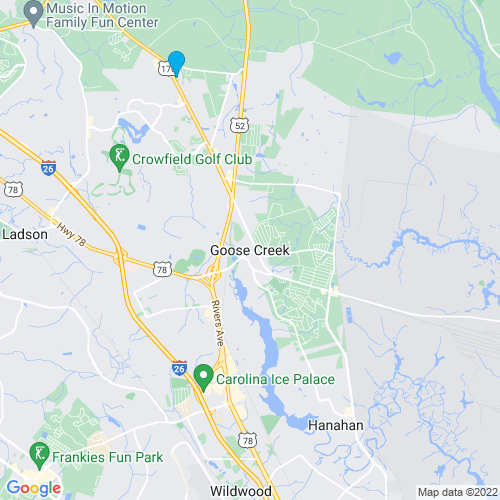 Map of Goose Creek, SC