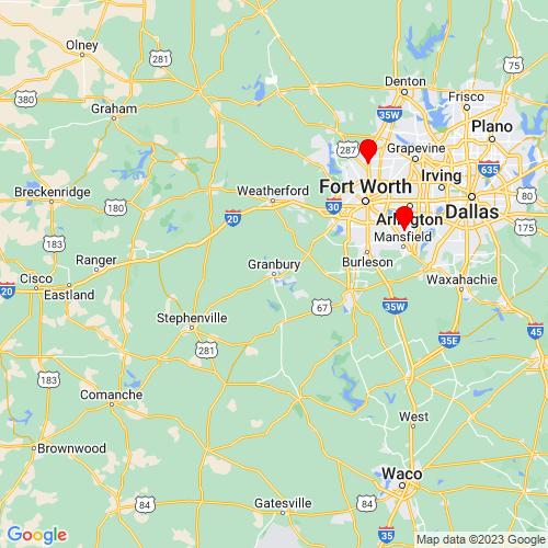 Map of Granbury, TX