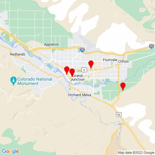 Map of Grand Junction, CO