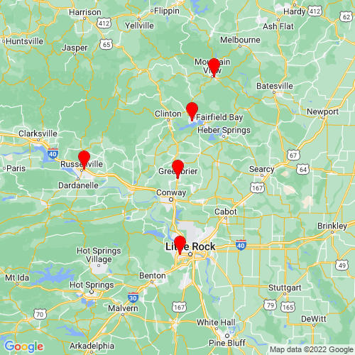 Map of Greenbrier, AR