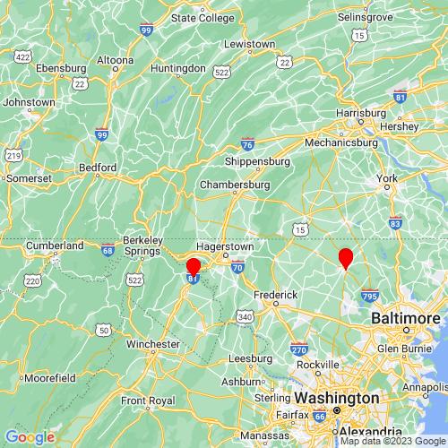Map of Greencastle, PA