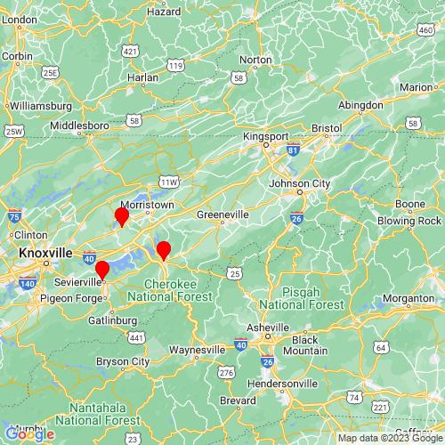 Map of Greeneville, TN