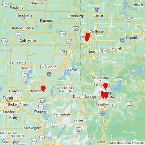 Map of Grove, OK