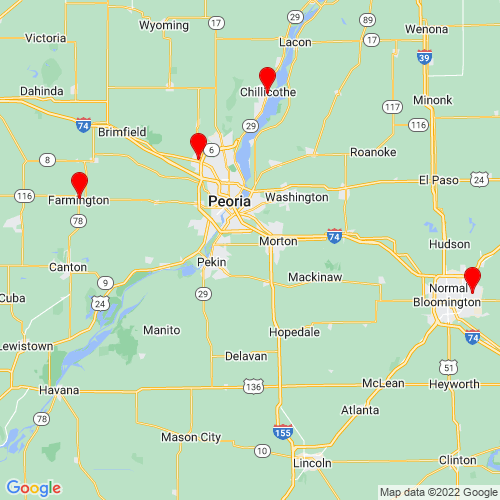 Map of Groveland, IL