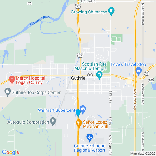 Map of Guthrie, OK