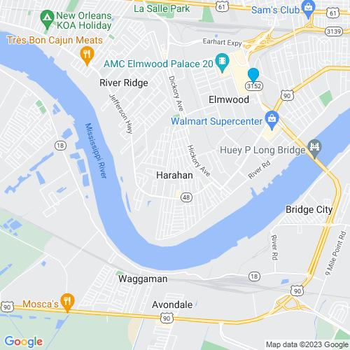 Map of Harahan, LA