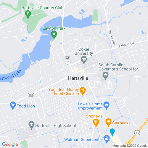 Map of Hartsville, SC
