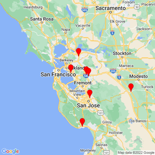 Map of Hayward, CA