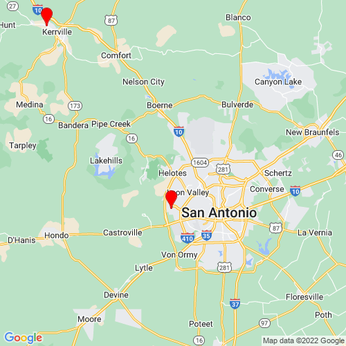 Map of Helotes, TX
